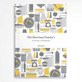 letterfest notebook Retro Kitchen Yellow Notebook