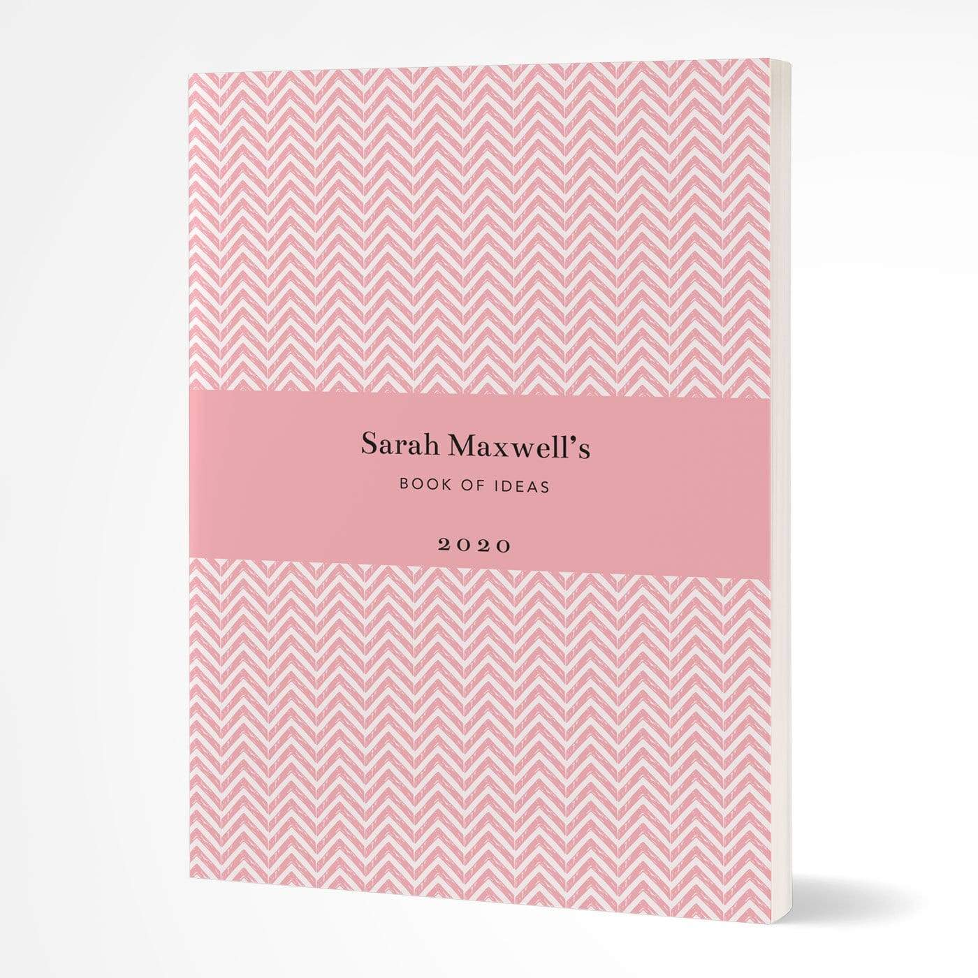 letterfest notebook Softcover Chevron Pink