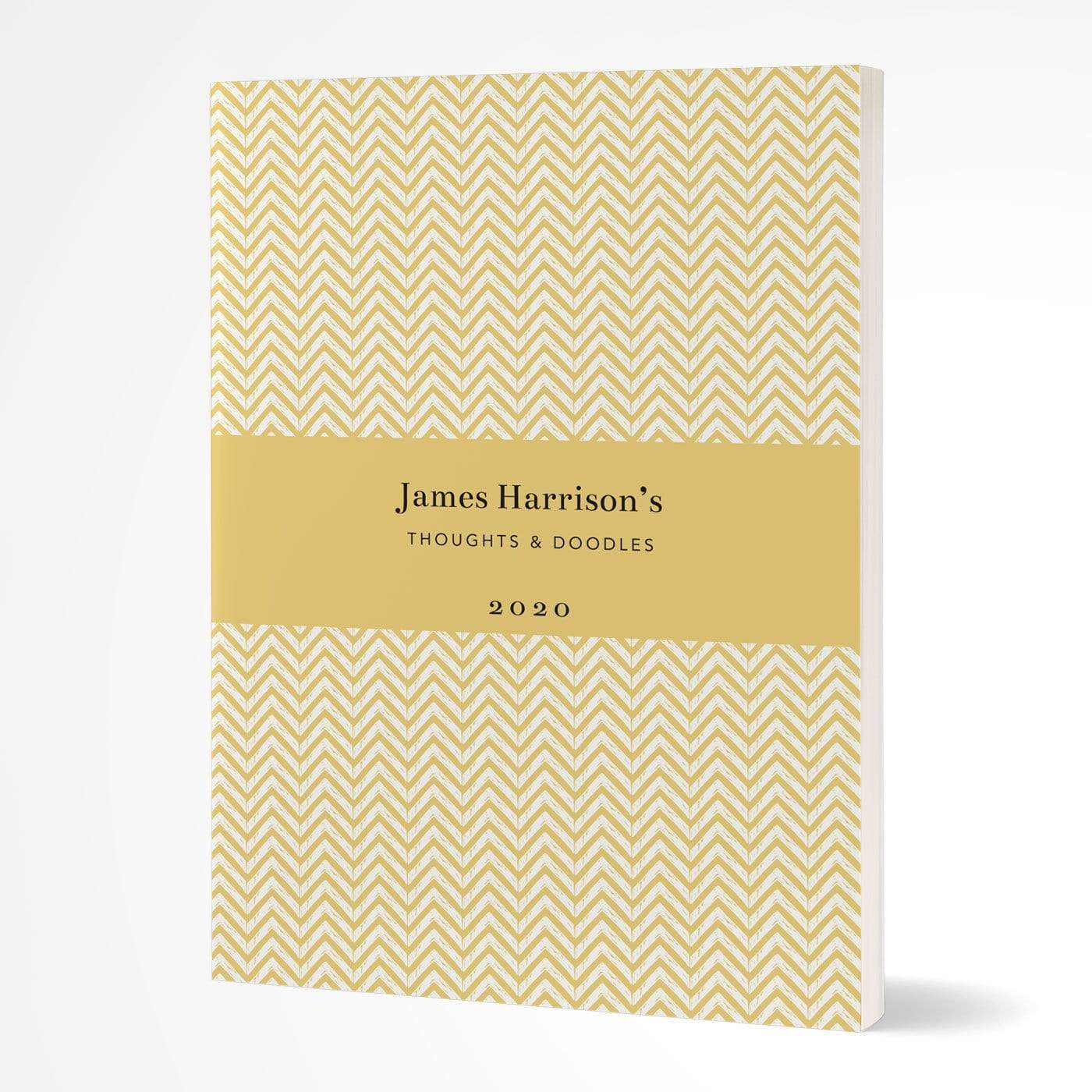 letterfest notebook Softcover Chevron Yellow