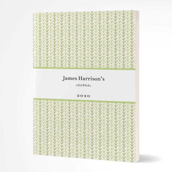 letterfest notebook Softcover Green Vine