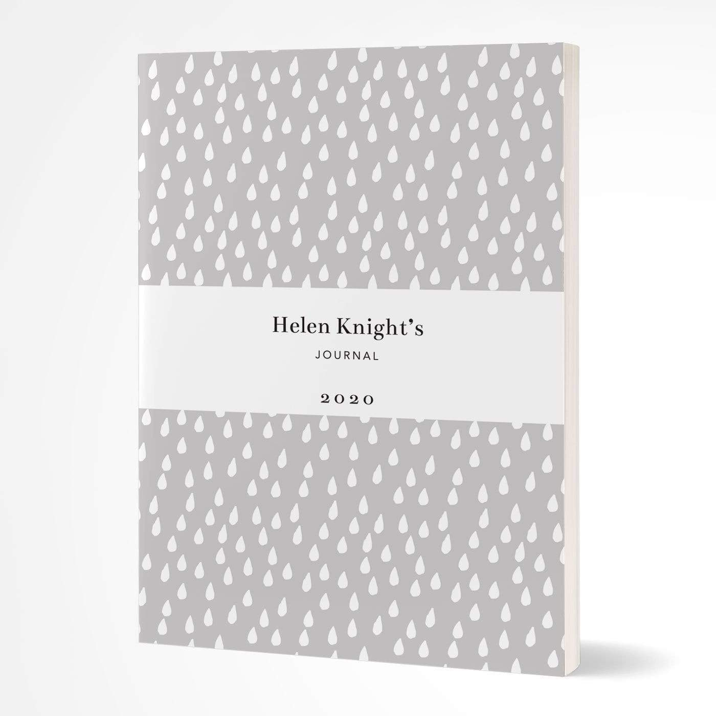 letterfest notebook Softcover Grey Raindrops