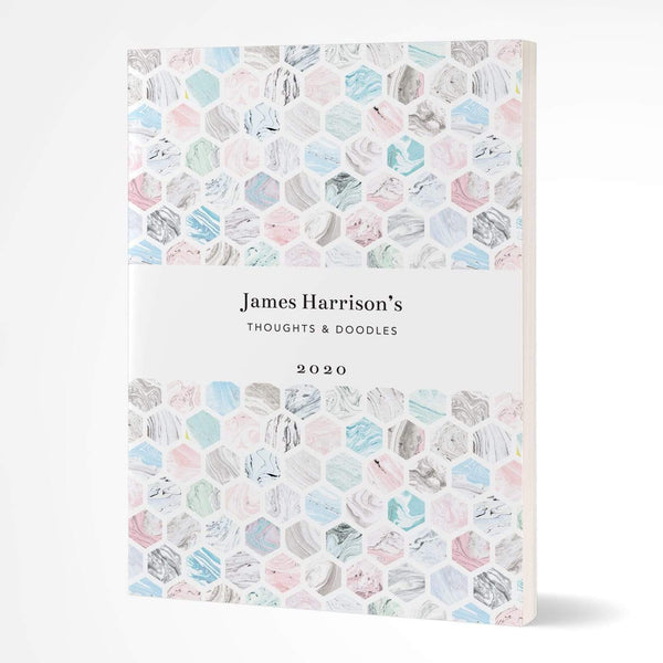 letterfest notebook Softcover Hexagon Mosaic