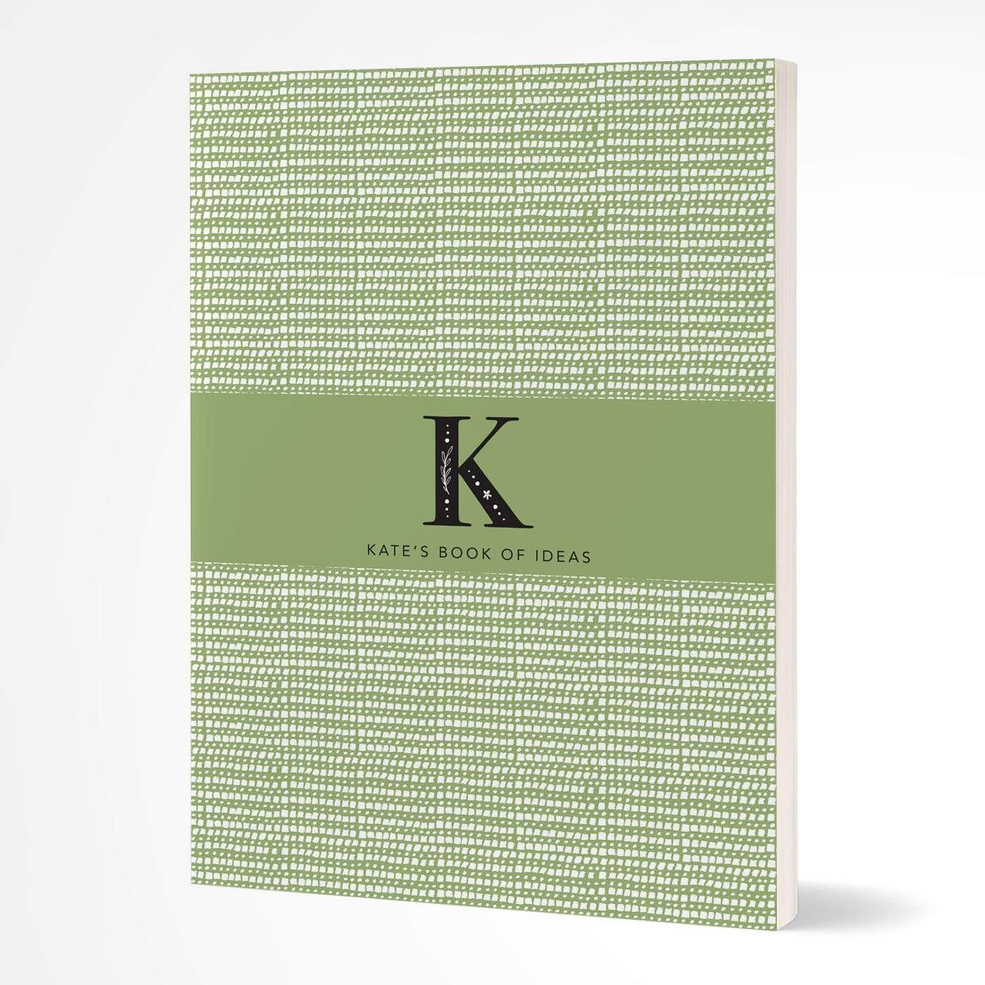 letterfest notebook Softcover Monogram Sage