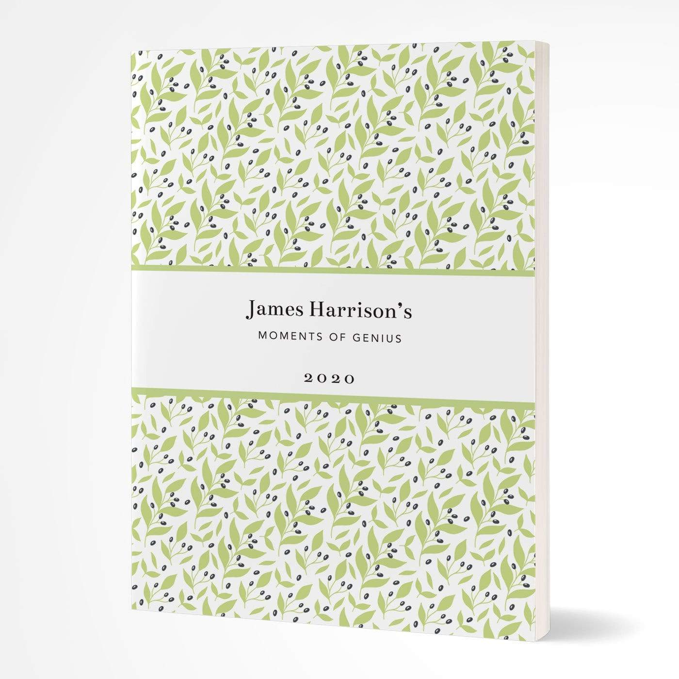 letterfest notebook Softcover Pretty Leaf