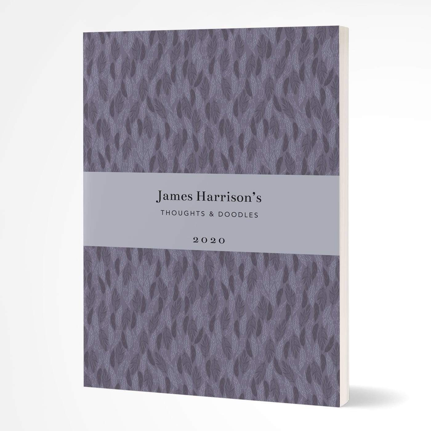 letterfest notebook Softcover Purple Meadow