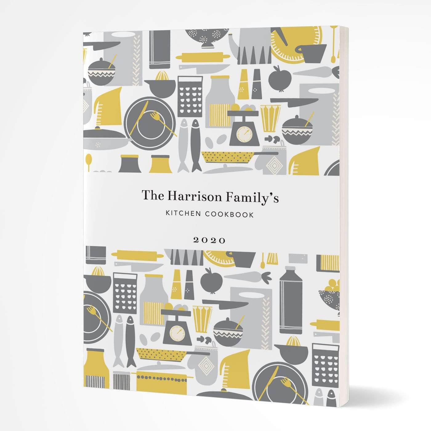 letterfest notebook Softcover Retro Kitchen Yellow Notebook
