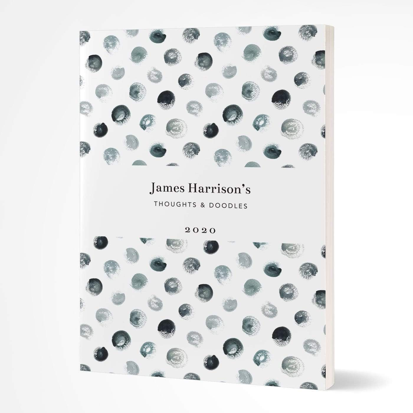 letterfest notebook Softcover Spotty Black Notebook