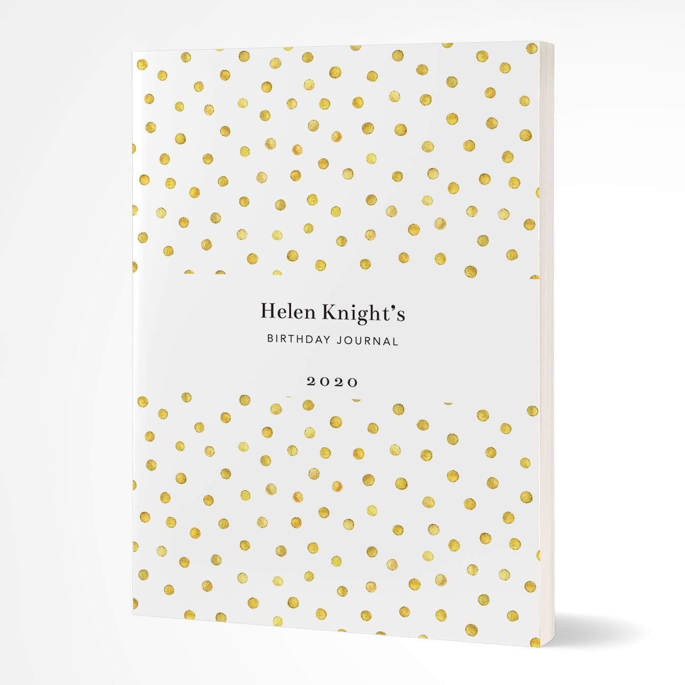 letterfest notebook Softcover Spotty Gold Notebook