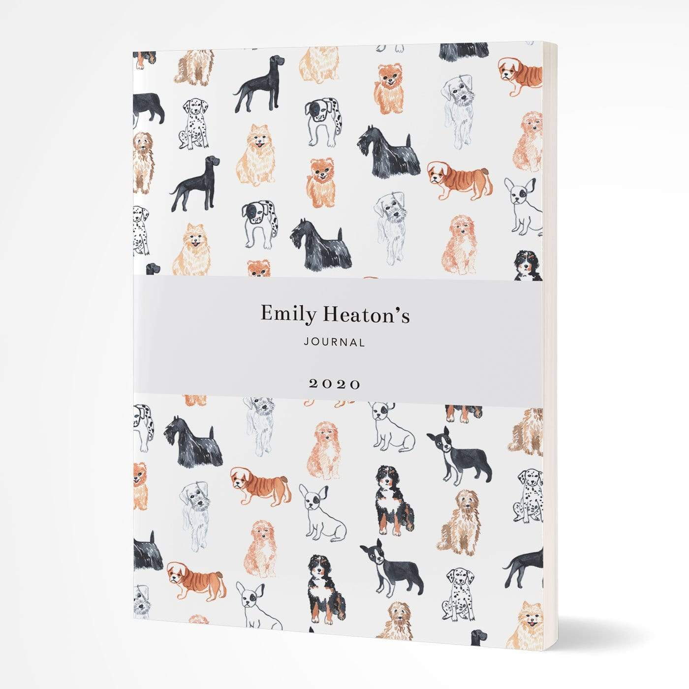 letterfest notebook Softcover Watercolour Dogs