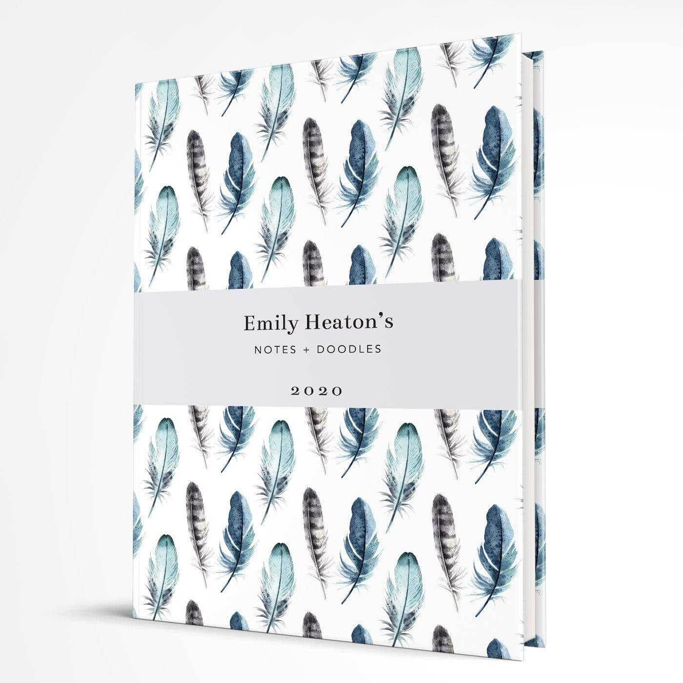 letterfest notebook Softcover Watercolour Feathers