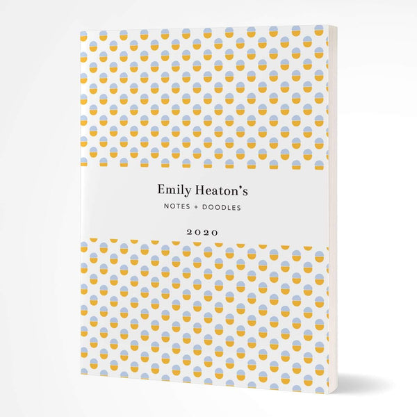 letterfest notebook Softcover Yellow Dotty