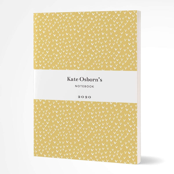 letterfest notebook Softcover Yellow Little Birds