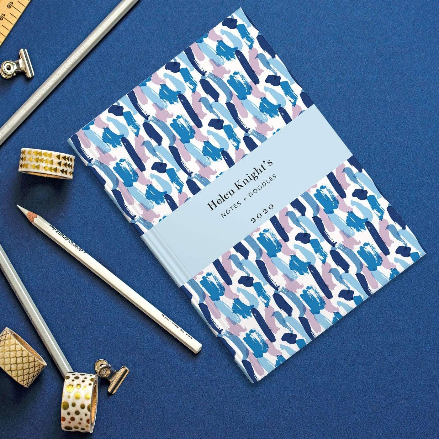 letterfest notebook Splash Blue