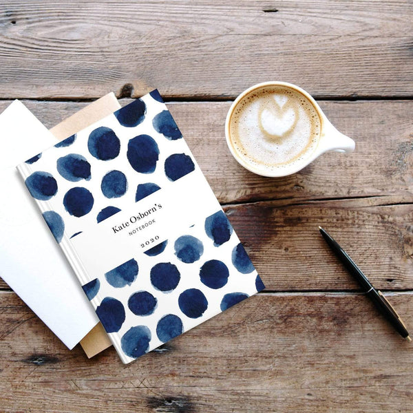 letterfest notebook Spotty Black Notebook