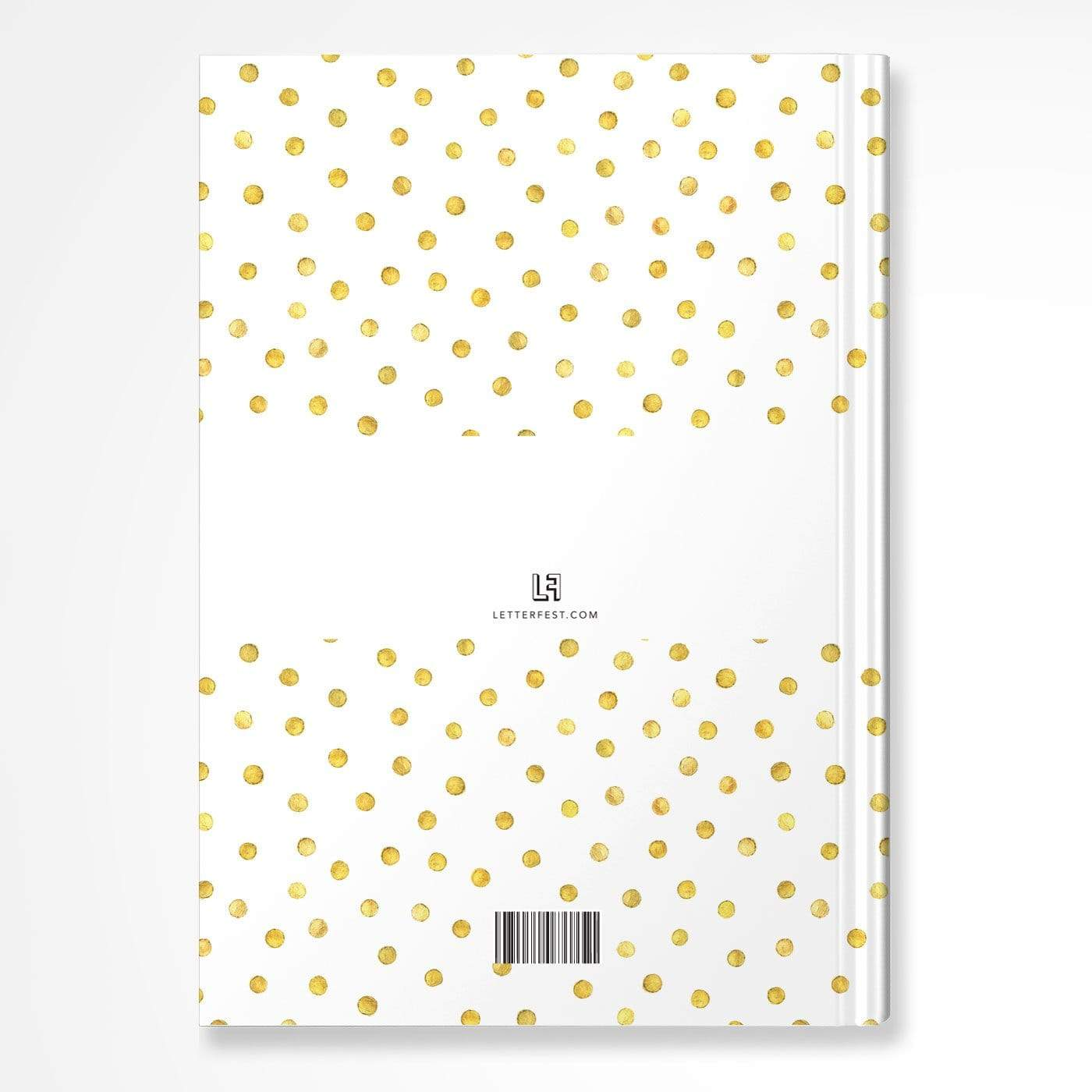 letterfest notebook Spotty Gold Notebook