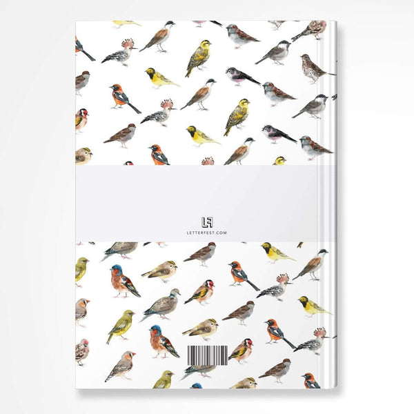 letterfest notebook Watercolour Birds