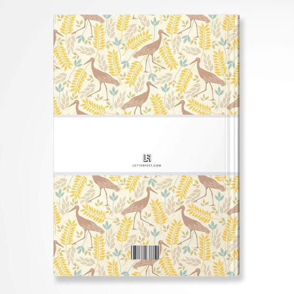 letterfest notebook Yellow Bird