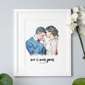 letterfest people Bride and Groom Wedding Illustration