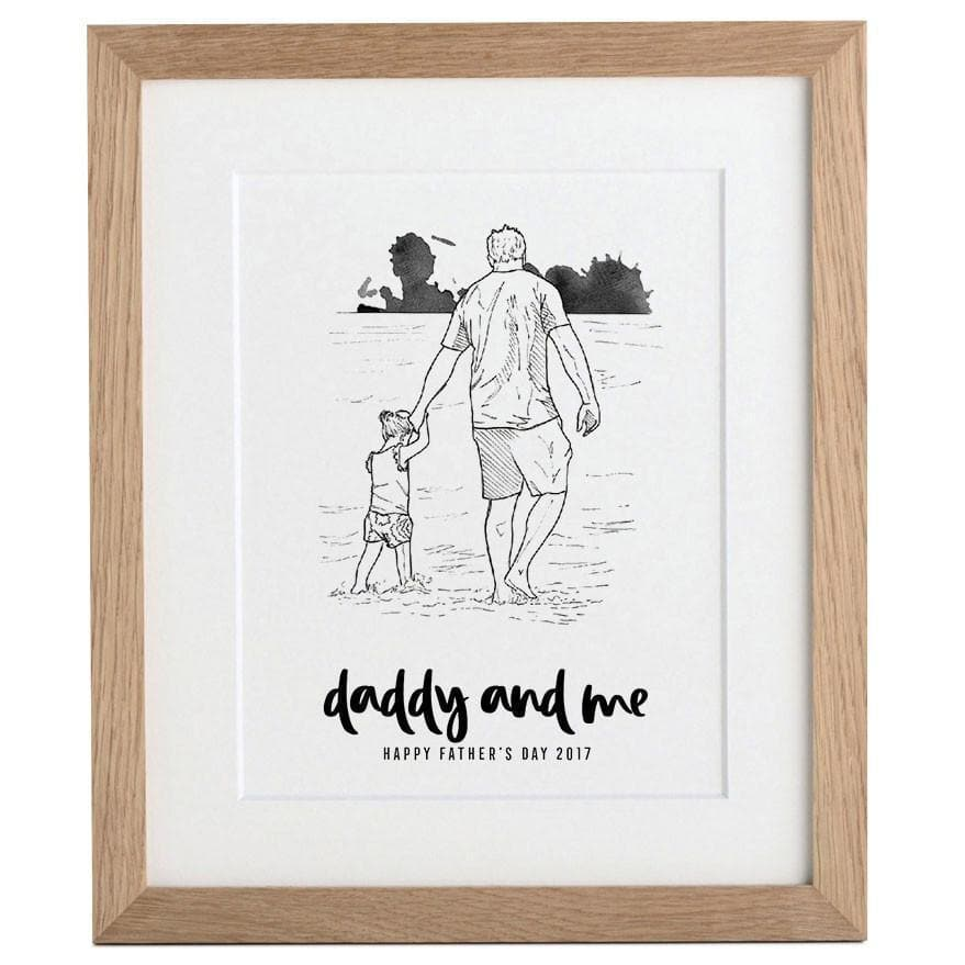 letterfest people Daddy and Me Illustration