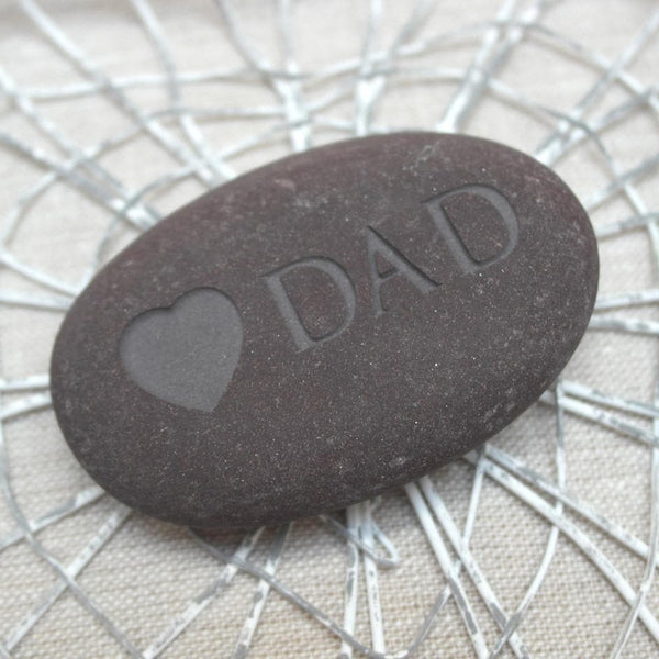 letterfest stone Engraved Dad Pebble