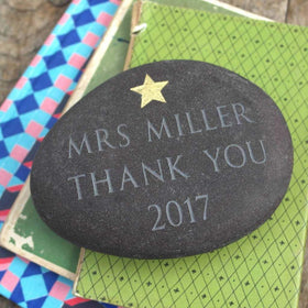 letterfest stone Engraved Message Pebble