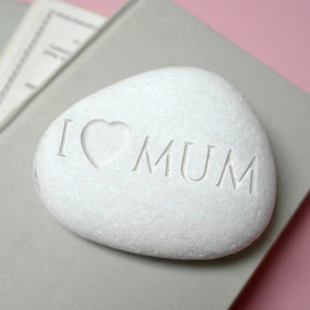 letterfest stone Engraved Mum Pebble