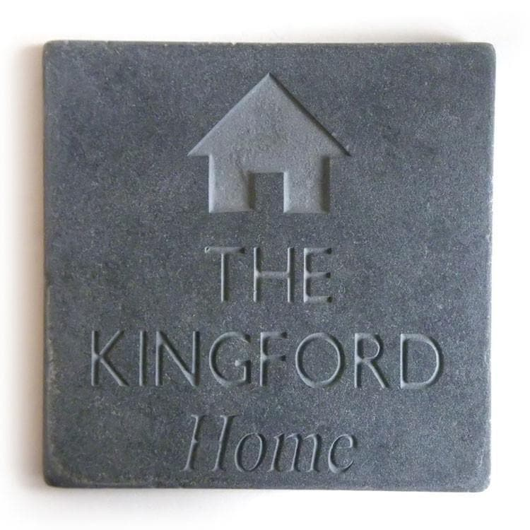 letterfest stone Family Slate with house icon