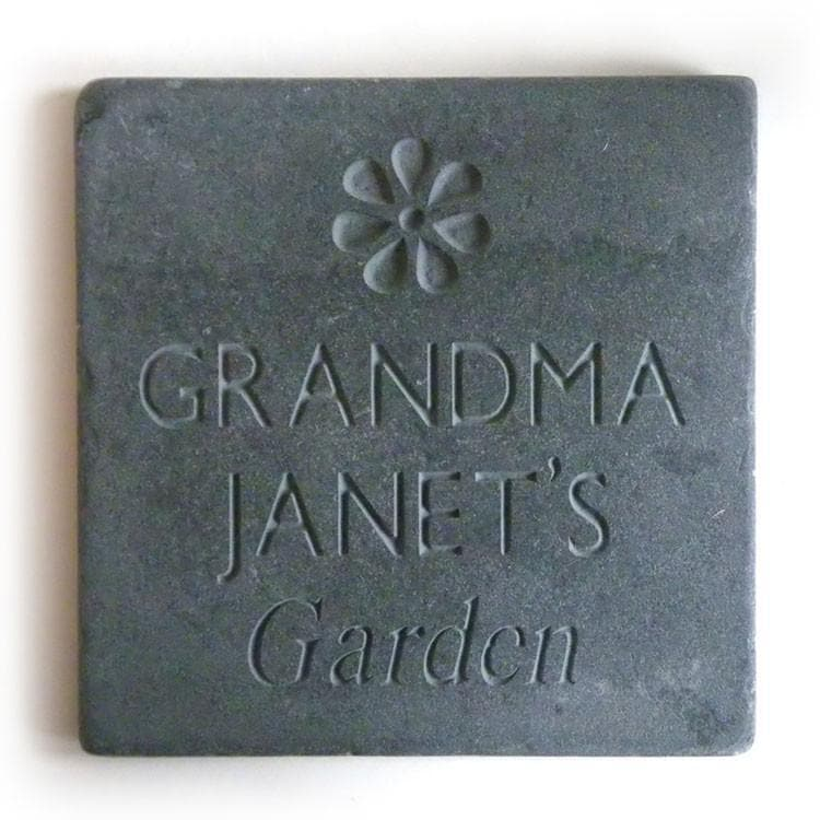 letterfest stone Garden Slate with Flower icon