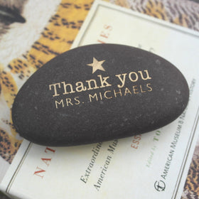 letterfest stone Gold or Silver Engraved Thank you Pebble