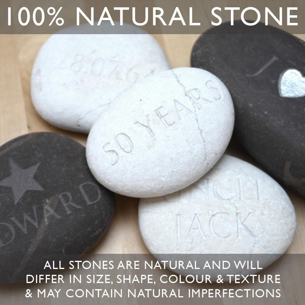 letterfest stone Heart Circle Pebble