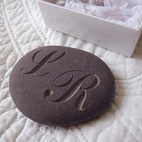 letterfest stone Monogram Pebble