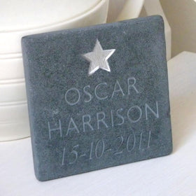 letterfest stone New Baby Slate with Star