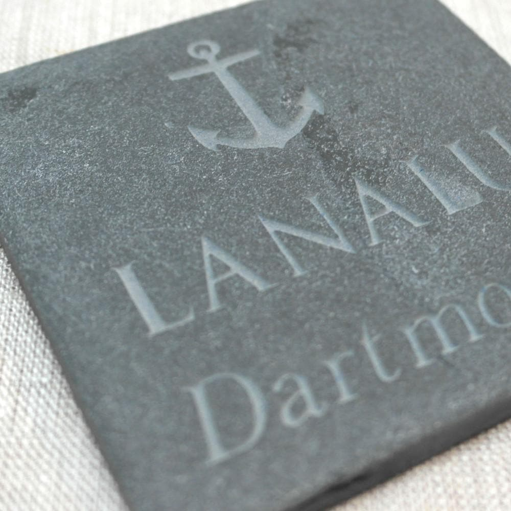 letterfest stone Personalised Baby Keepsake Footprint Slate