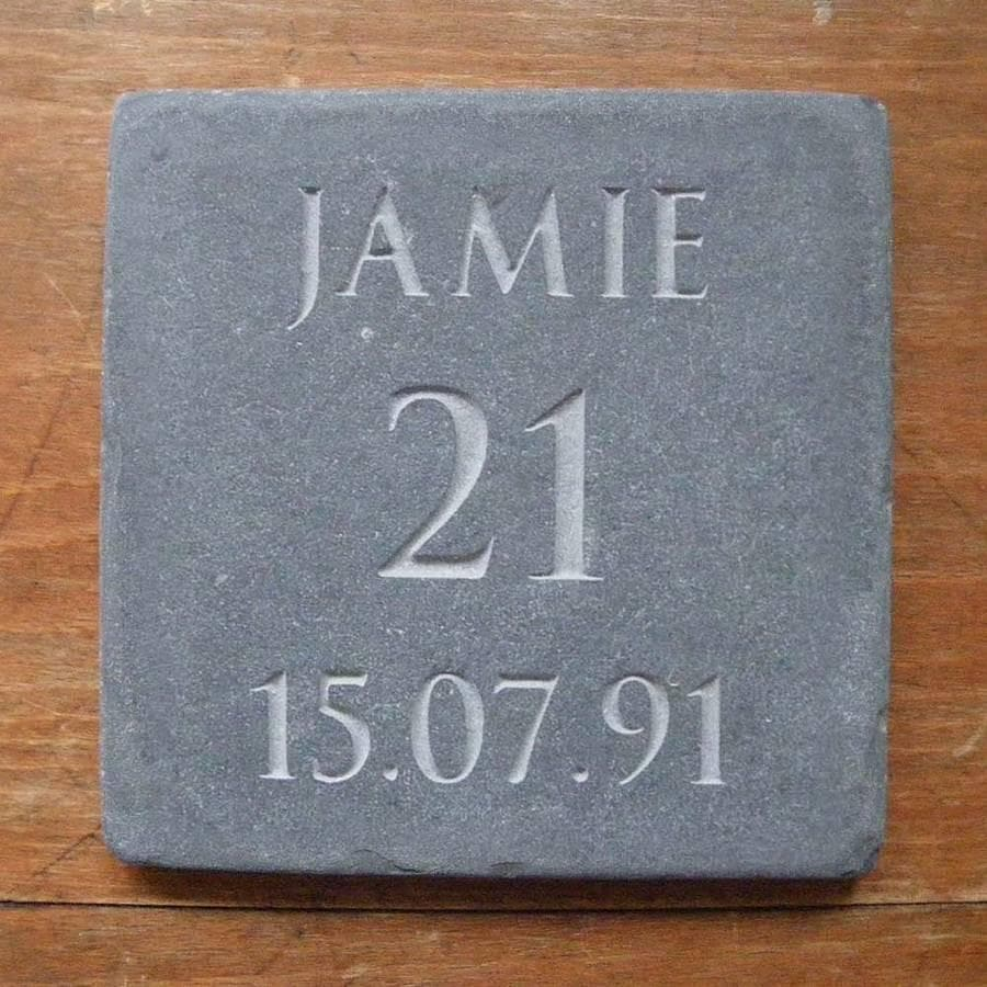 letterfest stone Personalised Birthday or Anniversary Slate