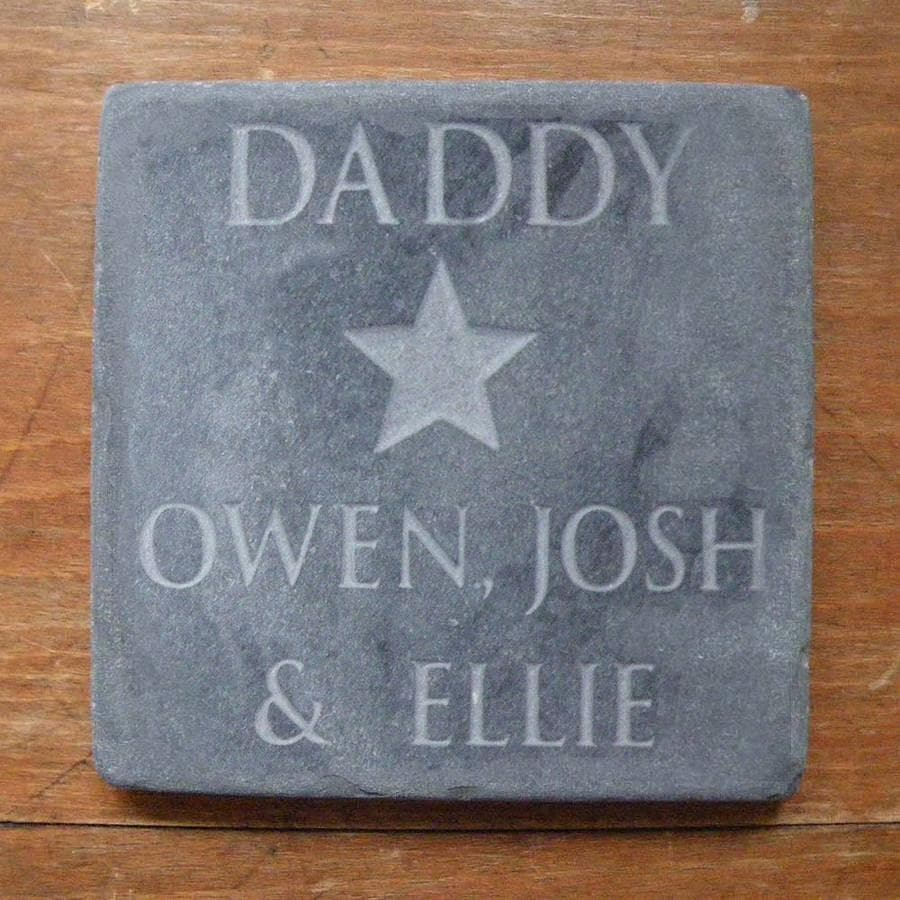 letterfest stone Personalised Dad's Star Slate