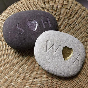 letterfest stone Personalised Engraved Love Pebble