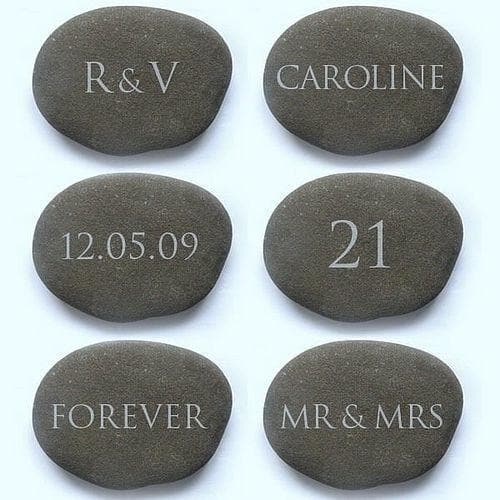 letterfest stone Personalised Engraved Pebble