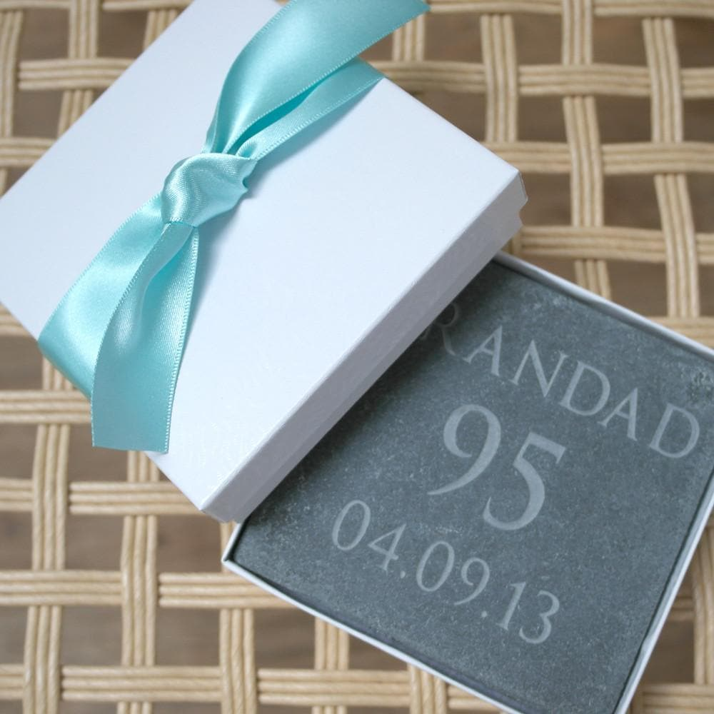 letterfest stone Personalised Pet Slate with Paw Print