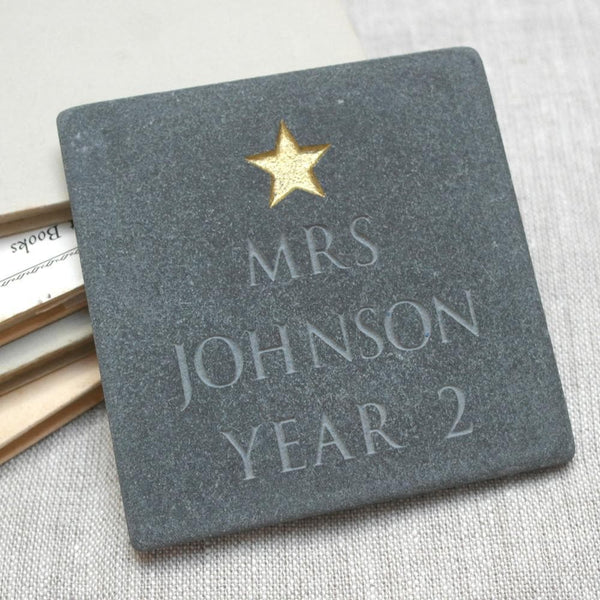 letterfest stone Personalised Teacher Star Slate