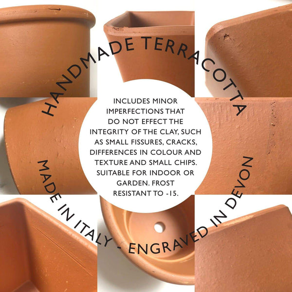 letterfest terracotta Engraved Birthflower Plant Pot