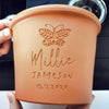 letterfest terracotta Engraved Butterfly Plant Pot