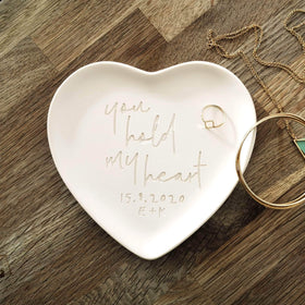 letterfest terracotta Engraved Pottery Message Heart Plate