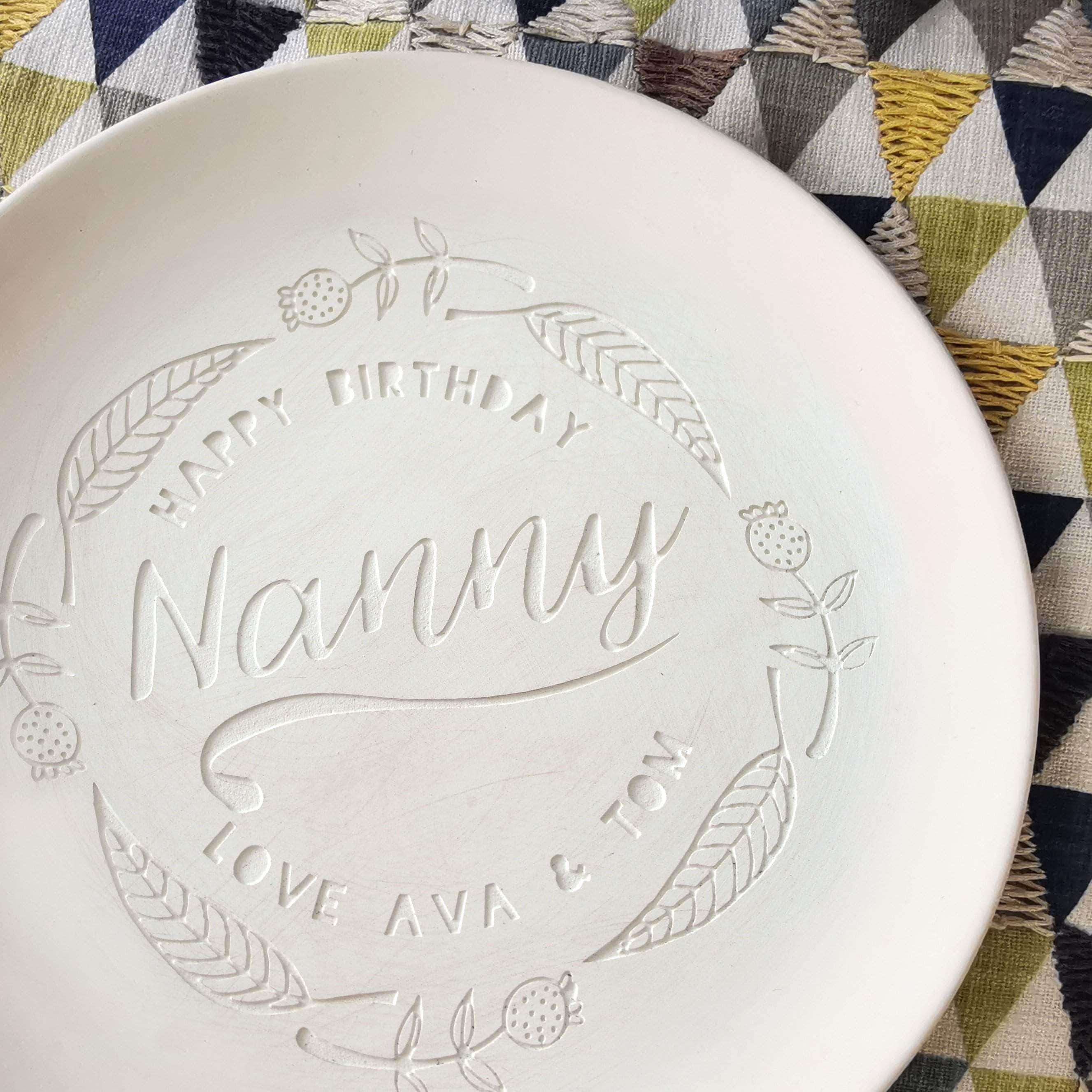 letterfest terracotta Personalised Engraved Plate