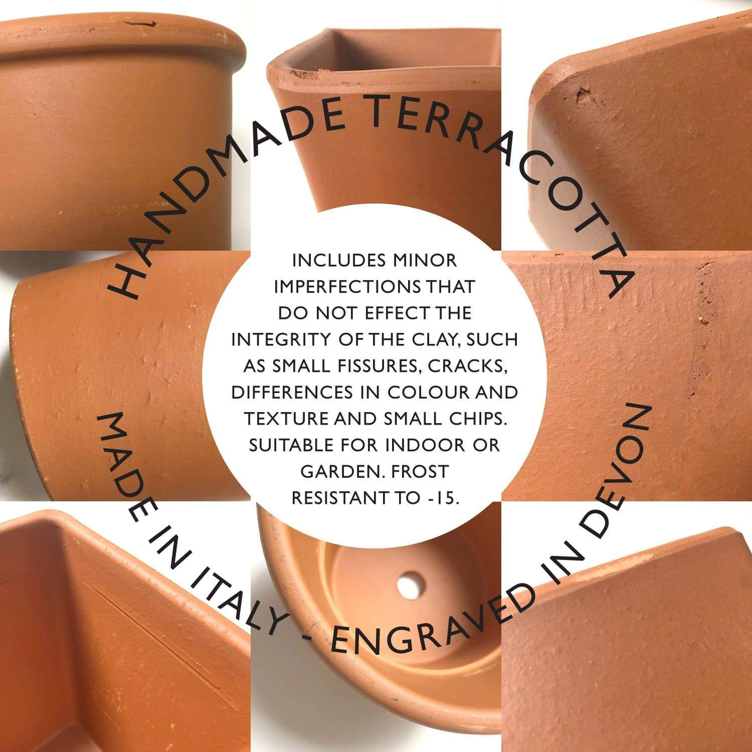 letterfest terracotta Personalised Handwritten Engraved Pot