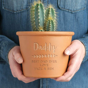 letterfest terracotta Personalised Herb Pot