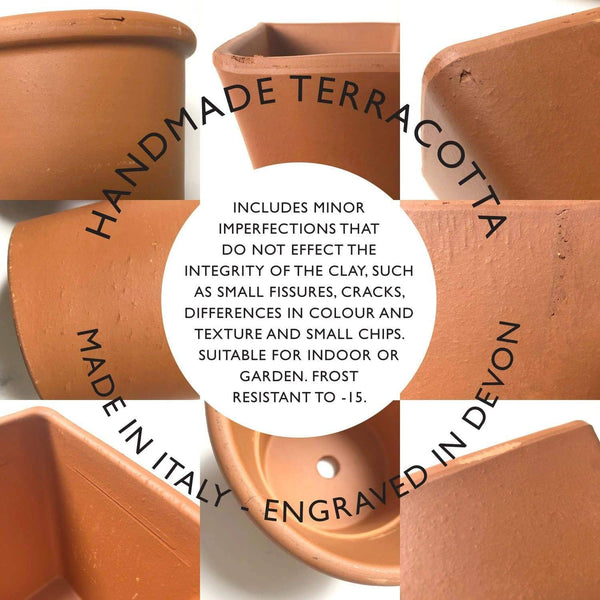 letterfest terracotta Personalised Name Terracotta Window Pot