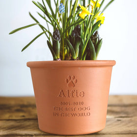 letterfest terracotta Personalised Pet Memorial Plant Pot