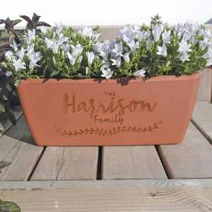 letterfest terracotta Personalised Terracotta Window Box