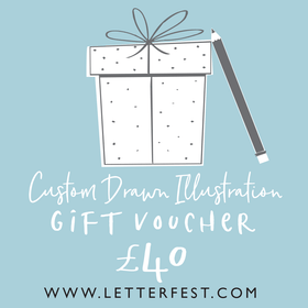 Letterfest voucher £40 Letterfest Illustration Gift Voucher
