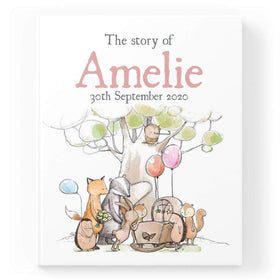 Personalised Woodland New Baby Book